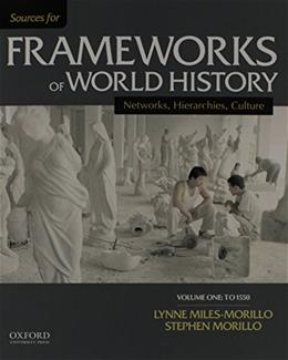 Sources for Frameworks of World History, by Miles-Morillo, Volume 1: To 1550 9780199332274