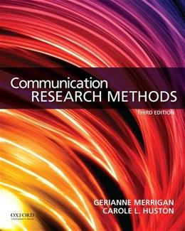 Communication Research Methods 3 9780199338351