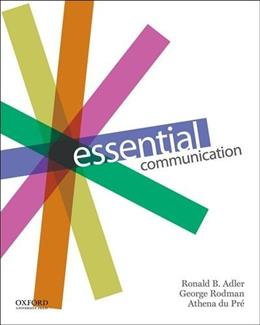 Essential Communication, by Adler 9780199342365