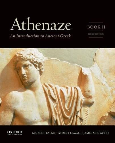 Athenaze, by Balme, 3rd Edition, Book 2: An Introduction to Ancient Greek 9780199363254