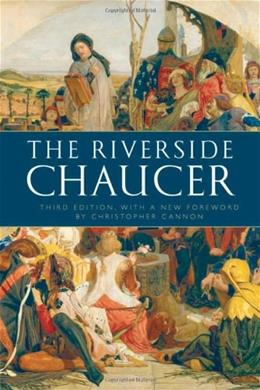 Riverside Chaucer, by Chaucer 9780199552092