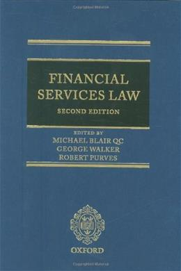 Financial Services Law, by Blair, 2nd Edition 9780199564187