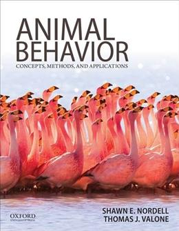 Animal Behavior: Concepts, Methods, and Applications 1 9780199737598