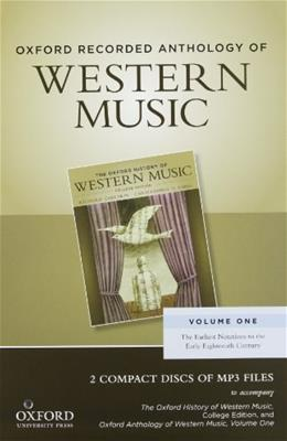 Anthology of Western Music, by Taruskin, Volume 1: The Earliest Notations to the Early 18th Century, Audiobook, 2 CD-ROMs ONLY 9780199768288