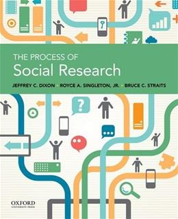 Process of Social Research, by Dixon 9780199946754
