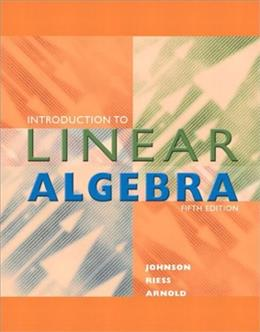 Introduction to Linear Algebra (5th Edition) 9780201658590