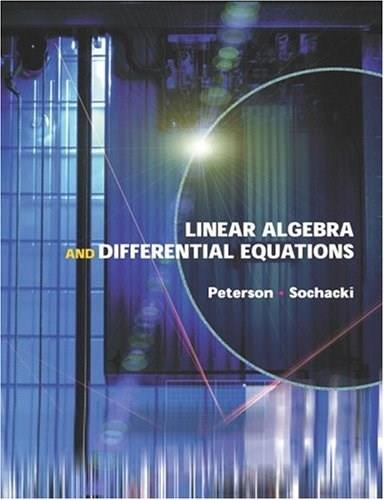 Linear Algebra and Differential Equations 1 9780201662122