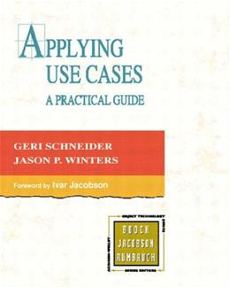 Applying Use Cases: A Practical Guide (2nd Edition) 2ND 9780201708530
