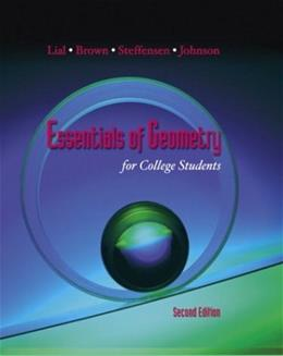 Essentials of Geometry for College Students, by Lial, 2nd Edition 9780201748826