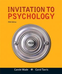 Invitation to Psychology (Fifth Edition) 5 9780205035199