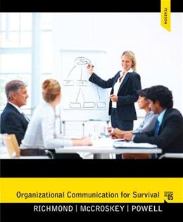 Organizational Communication for Survival (5th Edition) (Holbrook Press criminal justice series) 9780205060344