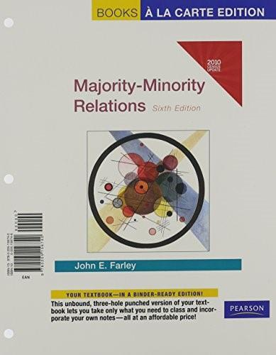 Majority-Minority Relations Census Update, by Farley, 6th Books a la Carte Edition 9780205156740