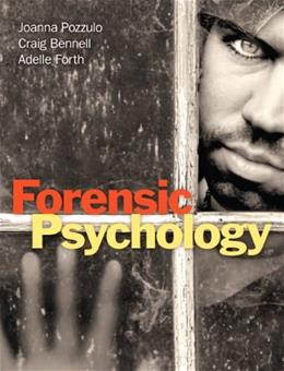 Forensic Psychology, by Pozzulo 9780205209279