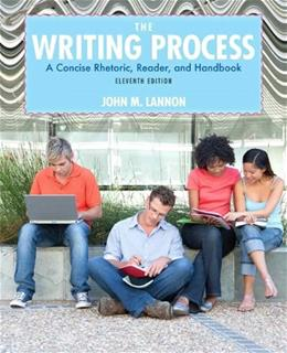 The Writing Process (11th Edition) 9780205210091