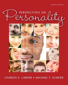 Perspectives on Personality, by Carver, 7th Edition 7 PKG 9780205217809