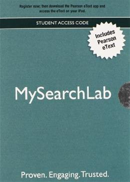MySearchLab with Pearson eText, by Pearson, Access Code Only PKG 9780205239924