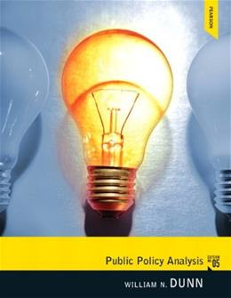 Public Policy Analysis 5 9780205252572