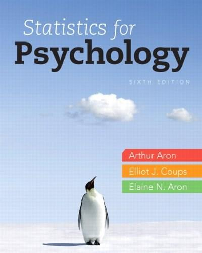 Statistics for Psychology, 6th Edition 9780205258154