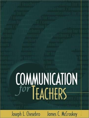 Communication for Teachers, by Chesbro 9780205318872