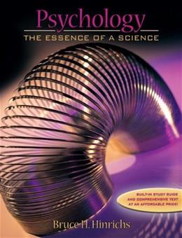 Psychology: The Essence of a Science 1 9780205360956