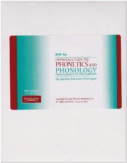 Introduction to Phonetics and Phonology, by Bauman-Waengler, DVD-ROM ONLY 9780205402854