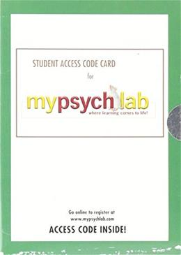 MyPsychLab with Pearson eText -- Valuepack Access Card 9780205462353