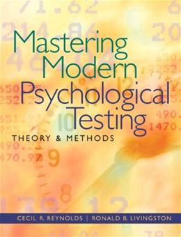 Mastering Modern Psychological Testing: Theory & Methods 1 9780205483501