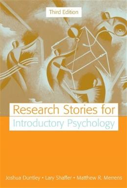Research Stories for Introductory Psychology, by Duntley, 3rd Edition 9780205520657