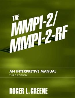 The MMPI-2/MMPI-2-RF: An Interpretive Manual (3rd Edition) 9780205535859
