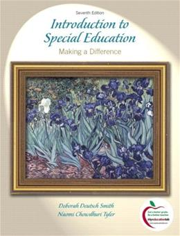 Introduction to Special Education: Making A Difference (7th Edition) 9780205600564
