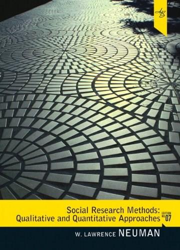 Social Research Methods Qualitative And Quantitative Approaches Quantitative And Qualitative Methods (Myresearchkit) 7 9780205615964