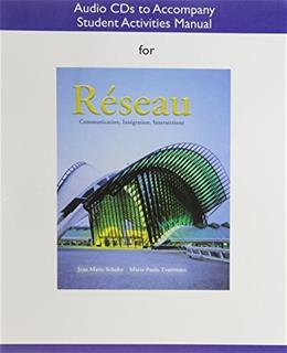 Reseau: Communication, Integration, Intersections, by Schultz, CD-ROM ONLY 9780205653492