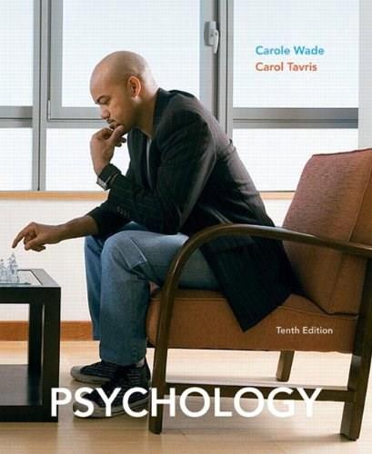 Psychology, by Wade, 10th Edition 9780205711468