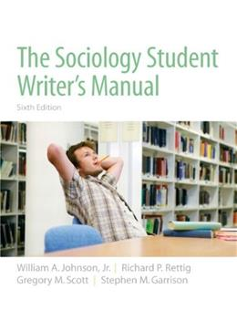 Sociology Student Writers Manual, by Johnson, 6th Edition 9780205723454