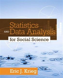 Statistics and Data Analysis for Social Science 1 9780205728275