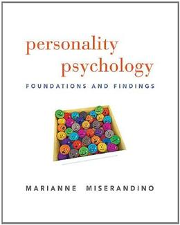 Personality Psychology: Foundations and Findings 1 9780205738878