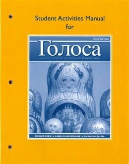 Student Activities Manual for Golosa 5 9780205748761