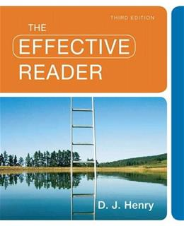 Effective Reader, by Henry, 3rd Edition 9780205780884
