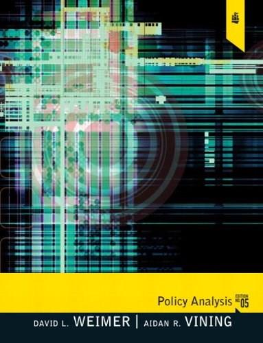 Policy Analysis: Concepts and Practice 5 9780205781300