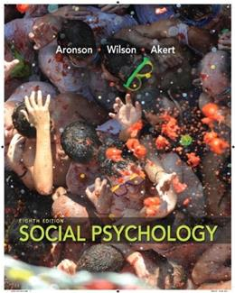 Social Psychology (8th Edition) 9780205796625