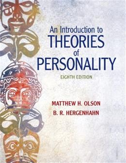 An Introduction to Theories of Personality, 8th Edition 9780205798780