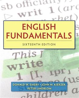 English Fundamentals (16th Edition) (Mywritinglab) 9780205825974