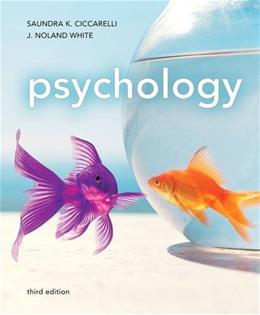 Psychology, by Ciccarelli, 3rd Edition 9780205832576