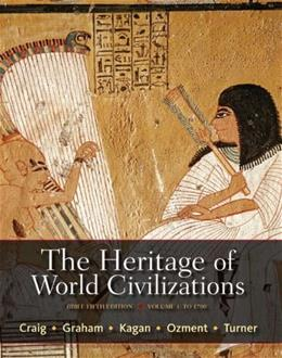 The Heritage of World Civilizations, Volume 1: Brief Edition (5th Edition) 9780205835485