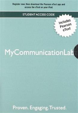 MyCommunicationLab, by Pearson, ACCESS CODE ONLY PKG 9780205890859