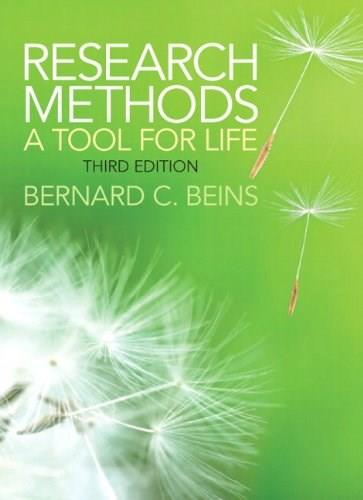 Research Methods: A Tool for Life (3rd Edition) 9780205899531