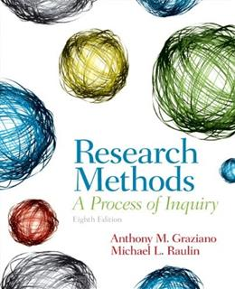 Research Methods: A Process of Inquiry (8th Edition) 9780205907694