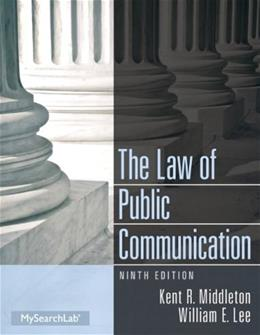 The Law of Public Communication 9 9780205913336