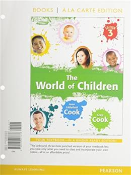 World of Children, by Cook, 3rd Books a la Carte Edition 3 PKG 9780205947706
