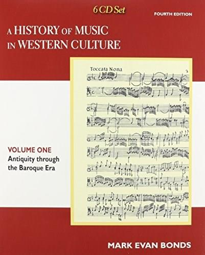 History of Music in Western, by Bond, 4th Edition, Volume I, CD-ROMS ONLY 4 CD-ROM 9780205953554